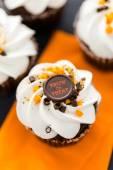 Chocolate Halloween cupcakes — Stock Photo