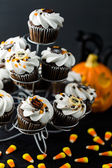 Chocolate Halloween cupcakes — Photo