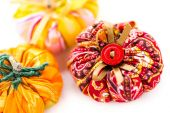 Fabric pumpkins — Photo