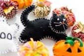 Fabric pumpkins — Foto Stock