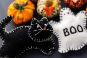 Fabric pumpkins — Stock Photo