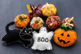Fabric pumpkins — Stock fotografie