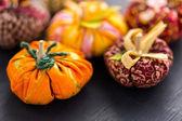 Fabric pumpkins — Stockfoto