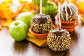 Caramel apples — Stock Photo
