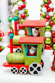 Christmas decorations at store — Stock Photo