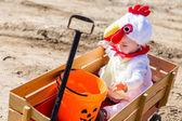 Cute kid in Halloween costume — Stok fotoğraf