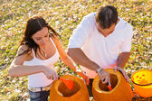 Pumpkin carving — Stock Photo