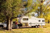 Camping in Autumn Colorado. — Stock Photo