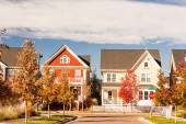 Residential houses exterior view — Stock Photo
