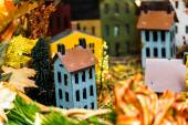 Handmade miniature village for sale — Stock Photo