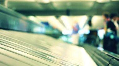 Baggage conveyor belt — Stockvideo