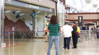 People at Denver International Airport — Stock Video
