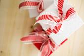 Red and white Chtistmas gifts — 图库照片