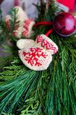 Guirlande de Noël se bouchent — Photo
