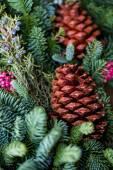 Weihnachtskranz hautnah — Stockfoto