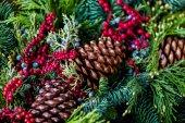 рождественский венок крупным планом — Стоковое фото