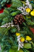 Christmas wreath close up — Stock Photo