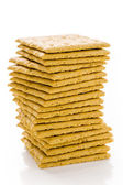 Stack of graham crackers — Stock Photo