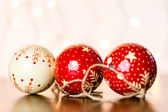 Vintage handmade Christmas ornaments — Stock Photo