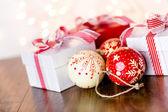 Vintage handmade Christmas ornaments — ストック写真