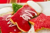 Variety of colorful Christmas cookies — Stock Photo
