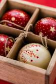 Vintage handmade Christmas ornaments — Stok fotoğraf