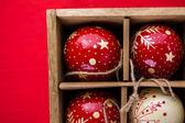 Vintage handmade Christmas ornaments — Stock Photo