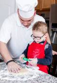 Father and son Baking — Stockfoto