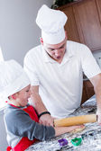 Father and son Baking — Stock Photo