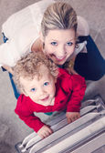 Mother and son at Christmas time — Stock Photo