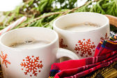 Hot chocolate with home made marshmallows. — Stock Photo