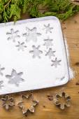 Making marshmallows in shapes of snowflakes — Stockfoto