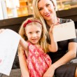 Mother and daughter with letter to Santa — Stock Photo #60239663