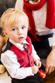Father and son at Christmas time — Stock Photo