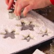 Making marshmallows in shapes of snowflakes — Vidéo #60471435