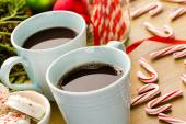 Cups with hot chocolate — Stock Photo