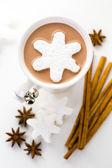 Homemade hot chocolate — Stock Photo