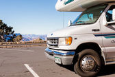 Camping at Grand Canyon in motor home — Stock Photo