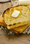 Sourdough bread with butter — Stock fotografie