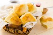 Freshly baked sourdough dinner rolls — ストック写真