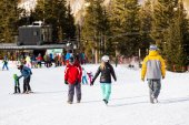 Ski resort at Arapahoe Basin, Colorado — Stockfoto