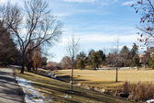 Suburban American park — Foto de Stock