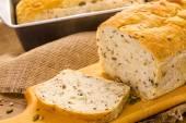 Artisan sourdough seeded bread — Stock Photo