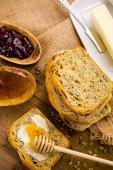 Artisan sourdough seeded bread — Foto Stock
