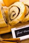 Artisan sourdough cinnamon swirl bread — Zdjęcie stockowe