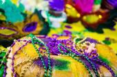 King kaka nära upp för Mardi Gras — Stockfoto