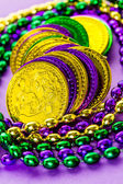 Multicolored decorations for Mardi Gras party — Стоковое фото