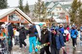 Ski resort at the end of the season — Foto Stock