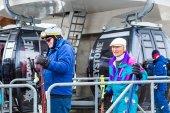 Al final de la temporada de esquí — Foto de Stock