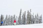 Ski resort at the end of the season — Stok fotoğraf